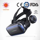3D Vr óculos de Realidade Virtual de fone de ouvido - para jogos de vídeo de filmes 3D com óculos Vr confortáveis auscultadores ajustáveis estéreo compatível com todos os ios/Smartph Android