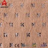 Coperta di timbratura calda molle eccellente di Sherpa del panno morbido di PV della pelliccia di falsificazione di strato doppio