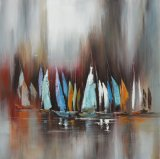 ホーム装飾のためのWilkinsonの油絵の北欧の芸術の帆およびボートの再生