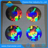 Impressão personalizada 10ml Holograma 3D através de adesivo com o número de série do Laser