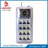Bewegliche nachladbare LED-Notleuchte mit FM Radio