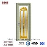Escoger la puerta de aluminio de cristal con bisagras de la capa doble para el cuarto de baño