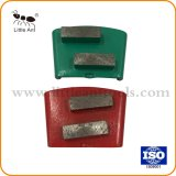 Два бар сегментированный бетонный пол металлические алмазные шлифовальные обувь