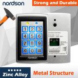 Sistema independiente del control de acceso de la puerta de la tarjeta del metal impermeable RFID con el telclado numérico