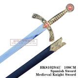 Le spade medioevali della decorazione delle spade delle spade di crociate 108cm HK81029au