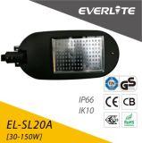 La caja de aluminio Calle luz LED de luz LED de la calle de alta potencia con 5 años de garantía.