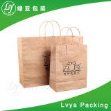 Design personnalisé imprimé Shopping sac de papier kraft sacs Hotsale réticulaire avec poignée