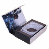 Boîte-cadeau de papier rigide de luxe d'écouteur avec le crochet s'arrêtant