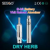 Crayon lecteur sec de narguilé de vaporisateur d'herbe de rectifieuse d'herbe d'acier inoxydable de nécessaire de recharge de Seego Vhit