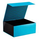 Venta caliente plegado de la impresión de logotipo personalizado Rosa Caja de regalo