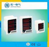 Energía actual hertzio de la potencia del voltaje de la visualización 72*72m m del tubo del LED Digital 3 series multi del contador de potencia de la red de la función de Digitaces de la fase E