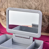 Cadre cosmétique en plastique dur multicouche portatif de qualité