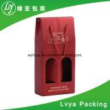 Papel corrugado Doble/Individual con ventana Caja de embalaje del vino, vino Caja de regalo