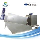 詰る屠殺場の排水処理の手回し締め機の沈積物排水機械