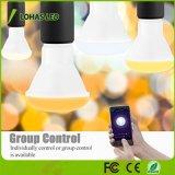 Zhongshan fabricante de iluminación ajustable blanca (2000K-6500K) 8W E26 BR20 Bombilla de luz inteligente compatible con Amazon Alexa Tuya