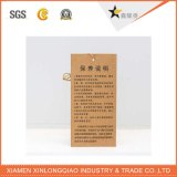 Modifica su ordinazione di caduta della carta kraft del Brown Di stampa in offset per l'indumento