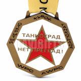 Medalla milagrosa del metal del torneo del balompié del esmalte duro