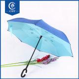 Parte interna invertita ombrello inverso caldo di inverso di vendita - fuori ombrello diritto d'inversione manuale delle automobili della maniglia di figura di Umbrella/C