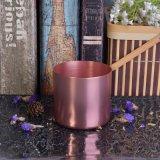 Vaso popular de la vela del metal de la dimensión de una variable redonda