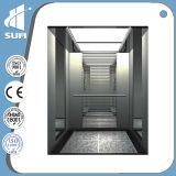Elevador grande do passageiro da capacidade da cabine luxuosa da decoração