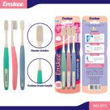 Toothbrush adulto com cerdas delgadas 3 em 1 bloco 873 da economia