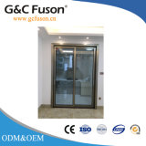 Gabinete de alumínio de pintura por pó porta corrediça com vidro duplo