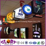 La publicité de la DEL a illuminé le signe extérieur de mémoire estampé par logo acrylique de face