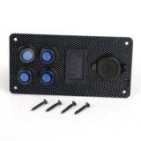 Ein-Aus-LED-Wippenschalter-Panel Doppel-USB-Aufladeeinheits-Voltmeter-Anzeigeinstrument für Auto-Boots-Marine