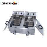 Matériel de cuisine friteuse électrique double réservoir (DZL-26V)