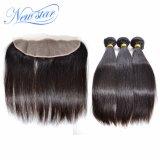 Дешевые пачки & Frontal человеческих волос девственницы верхнего качества индийские прямые