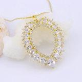 Halsband van de Partij van Womn van het Zirconiumdioxyde van de Toebehoren van vrouwen 18K 24K de Goud Geplateerde
