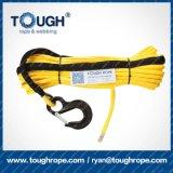 """2/5 """" línea sintetizada cable gris 23000lbs 4WD de la cuerda del torno de X100FT de la recuperación"""