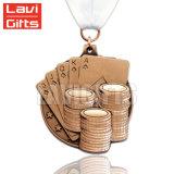 Medaglia di oro innovatrice di promozione di sport su ordinazione all'ingrosso poco costoso del metallo