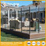 Rete fissa di vetro dell'inferriata della balaustra di vetro di asta della ringhiera per il balcone/cortile