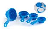 다기능 애완 동물 먹이 물자 실리콘 숟가락 Foldable Boel Portable 컵