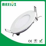 중국 공급자 매우 호리호리한 둥근 중단된 6W LED 위원회 빛