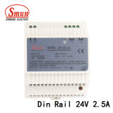 Le Dr-60-24 60W 24VCC 2.5A Rail DIN d'alimentation en mode de commutation
