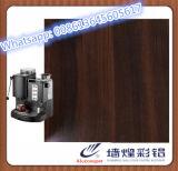 Placa de acero revestida popular de la película plástica para la máquina del café