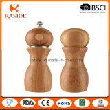 Molino de bambú tamaño pequeño de la sal y de pimienta del mecanismo de cerámica