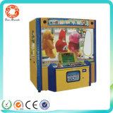Het muntstuk stelde de Dubbele Automaat van het Spel van de Klauw van de Kraan van het Stuk speelgoed van de Speler In werking