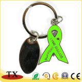 Metallfarbband-Form Keychain mit einer kleinen Marke