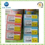 Kundenspezifischer Entwurfs-silberne Folien-Aufkleber-Papier-Kennsatz geprägter Aufkleber (JP-S114)