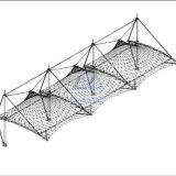 Hat forma PVDF Coche Tienda lluvia y el sol de la membrana de vivienda