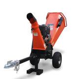 Cargas rebocáveis 420cc motor a gasolina máquina de picador de madeira para jardim uso florestal