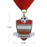 亜鉛合金リボンが付いているカスタムメダル品質のめっきの真鍮メダル