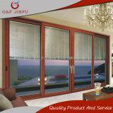 Алюминиевые большие взгляды освобождают стеклянную раздвижную дверь с монолитно штарками