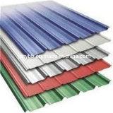 Tratamiento superficial galvanizado recubierto de color del techo de zinc corrugado hoja
