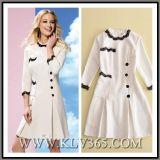 2017 neuester Form-Frauen-Herbst-weißes Büro A - Zeile Kleid