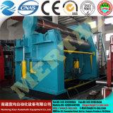 Máquina de rolamento hidráulica da placa do CNC W12, máquina de rolamento do cone, máquina de dobra do rolo