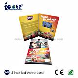 5 인치 LCD 스크린 사업 승진 광고를 위한 영상 브로셔 종이 카드